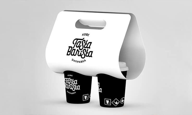 Дизайн фирменного стиля и упаковки сети кофеен. Разработка брендбука, нейминг.